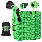 Flexibler Gartenschlauch 37,5m/125FT Dehnbarer Flexischlauch Flexi Wasserschlauch Flexibel Multisfunktionsbrause mit 7 Funktionen für Gartenbewässerung, Autowäsche, Haus Spülen, PET-Bäder (Grün)