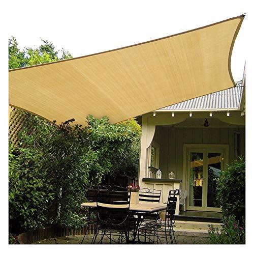 GHHZZQ Voiles d'ombrage Faire de l'ombre Épaississement du Chiffrement Durable Solaire Filet d Ombrage Taux D'ombrage 90%, Beige (Color : Beige, Size : 6x8m)