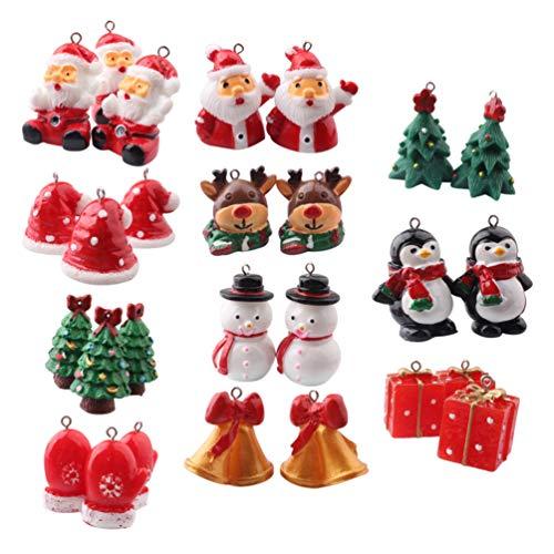 Stobok - 11 abalorios de Navidad para decoracin de pasteles