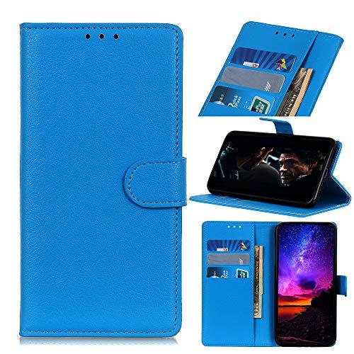 MSOSA Kompatibel mit Handyhülle Hülle Oppo Reno 3 Pro 5G/Find X2 Neo, Wallet Hülle, Handyhülle als Brieftasche, TPU Schutzhülle Handytasche mit Kartenfach Ständer Magnet_Blau