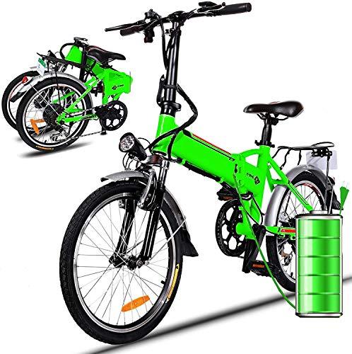 Bicicleta eléctrica 36 V 8 Ah batería de Litio Bicicleta Plegable MTB Bicicleta de montaña E-Bike 17 * 26 Pulgadas Shimano 7 Velocidad Bicicleta Intelligence Bicicleta eléctrica