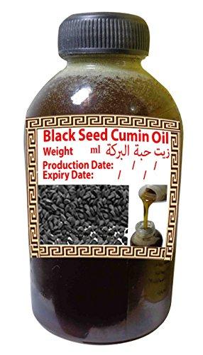 Black Seed Oil Pure Cold Pressed Black Cumin Organic Virgin Natural Raw Non GMO Nigella Sativa Extract Kalonji Egyptian Egypt Herbal Herbs Vegan Body Hair Blackseed Halal Shifa Sunnah (35oz / 1000ml)
