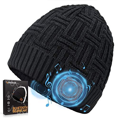Bluetooth Mütze Herren Damen, Geschenke für Männer & Frauen, Bluetooth Beanie Wintermütze Herren, Adventskalender Männer 2020, Warme Strickmütze mit Kopfhörern Bluetooth, Weihnachts Nikolaus Geschenke