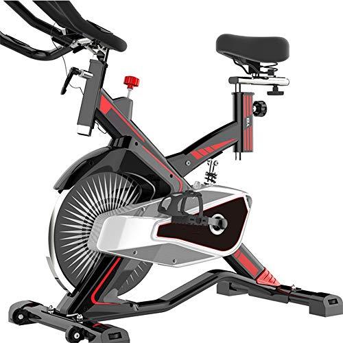 Rawall-hom Gimnasio Interior Bicicletas de Spinning Indoor Multifuncional silenciosa Bicicleta estática de artículos Deportivos Nacionales para Hombre Mujer (Color : Black, Size : 94.5x48x107cm)