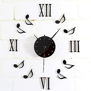 TianriJ Fashion DIV Acrylic Irregular Music Symbol Indoor Wall Clock/Bedroom Living Room Wall Clock,Jump Stitch Accurate Well-Made