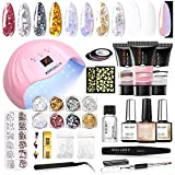 Modelones Poly Nail Gel Kit, 3 Colors Enhancement...