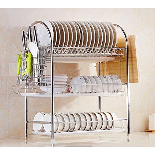 Porte-vaisselle Étagère en acier inoxydable Étagère de cuisine Évier de cuisine Évier en acier inoxydable (taille : 53 * 29 * 65CM)