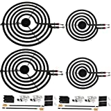 MP22YA For Hardwick & Jenn Air & Kenmore & Norge & Whirlpool Electric Range Stove 6 Pack Electric Range Burner Element Unit Set - 2 MP15YA 6' and 2 MP21YA 8'and 2 330031 Receptacle kits
