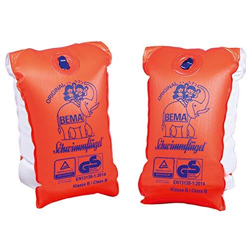 Aufblasbare Schwimmflügel Größe 1 Gewicht 11-30kg für 1-6Jahre Kinder Schwimmhilfe Orange Weiß Schwimmen Baden Schutz Sicherheit Badespass Schwimmbedarf Kinderschutz Kindersicherheit Wasser Schwimmbad