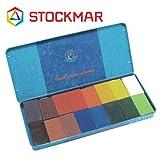 Stockmar(シュトックマー社) 蜜ろうクレヨン ブロッククレヨン 16色 缶【ST35002】