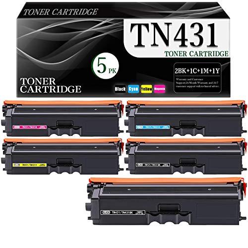 Price comparison product image 5-Pack (BK / C / M / Y) Toner Cartridge TN431BK TN431C TN431M TN431Y TN431 Compatible Replacement for Brother HL-L8260CDW L8360CDW L9310CDW L9310CDWT MFC-L8610CDW L8690CDW L9570CDWT L9570CDW Toner Cartridge