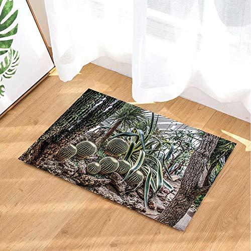 Tropische plant decoratieve cactus in de kas Kinderbadkamer tapijt toiletdeur mat woonkamer 40X60CM badkameraccessoires
