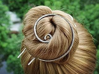 Silver Bun Holder Hair Fork Hair Slide Hair Brooch Hair Clip Barrette Hair Pins Decorative Hair Sticks for Buns Women Gift