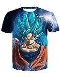Camiseta Dragon Ball Niño 3D Impresión Unisex Hombres Mujer Camisetas y Camisas Deportivas Camisetas de Manga Corta Dibujos Animados de Fans Streetwear T Shirt Camisetas de Verano (TX-QLZ-0396, M)