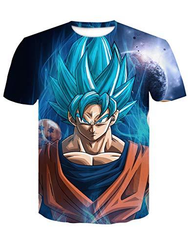 Camiseta Dragon Ball Niño 3D Impresión Unisex Hombres Mujer Camisetas y Camisas Deportivas Camisetas de Manga Corta Dibujos Animados de Fans Streetwear T Shirt Camisetas de Verano (TX-QLZ-0396, S)