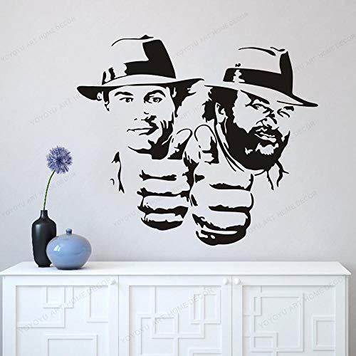wopiaol 3D York Wandaufkleber Büro Wandaufkleber Charakter Sterne Bud Spencer und Terence Hill Portrait Classic 57X71