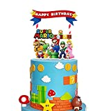 Decorations for Super Mario Cake Topper Cupcake Toppers Birthday Party Supplies Decor
