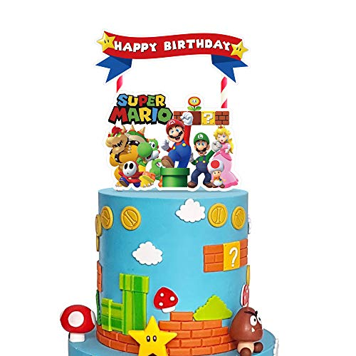 Mario Birthday Cake Topper Sonic Birthday Cake Topper Character Birthday Cake Topper