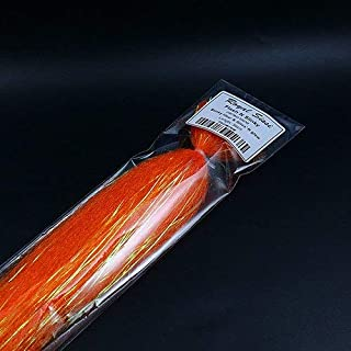 Royal Sissi 8 Optional Colors Fly Tying Flash N Slinky Fiber Long Shimmer Hair Fuzzy Fiber baitfish Streamer Fly Tying Materials Orange
