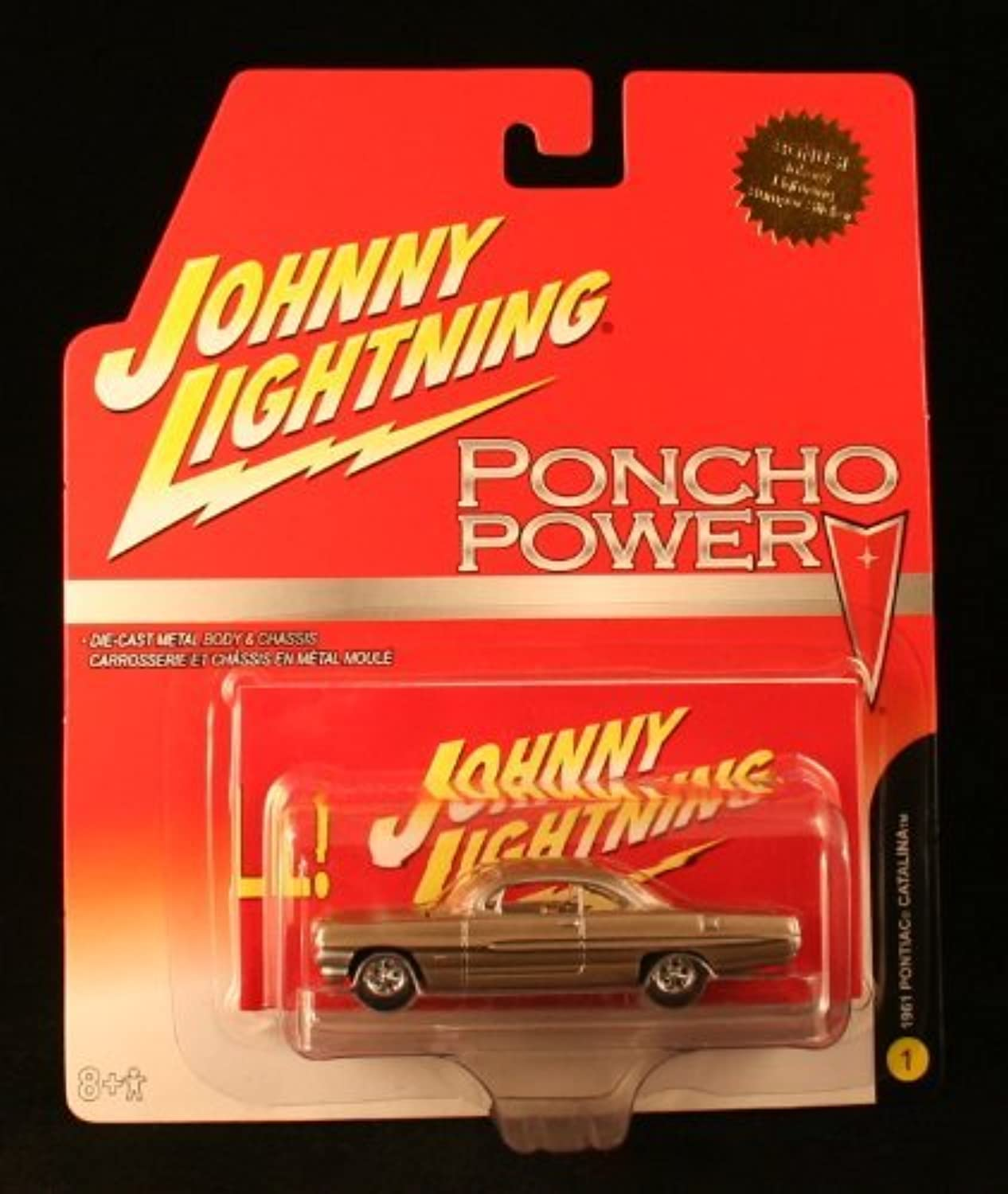 1961 PONTIAC CATALINA  1 Johnny Lightning 2006 PONCHO POWER COLLECTION 1 64 Scale Die Cast Vehicle by Johnny Lightning