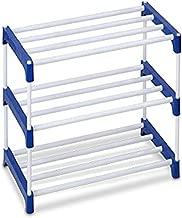Ebee 3 Shelves Multipurpose Rack (Blue,Steel Coated)