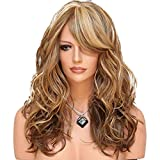 10A Mid-Length Wavy Wigs For Women Heat Resistant Fiber Hairpiece Daily Style Fiber Hair Natural Loose Wig