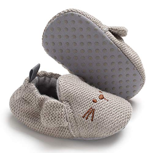 KIDSUN Infant Baby Girls Boys Slippers Cute Cartoon Animals Soft Non Skid Sole Newborn First Walkers Crib Shoes