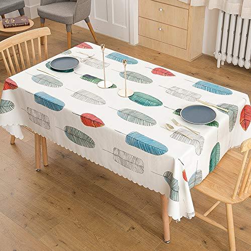 HEZESHOP Mantel al Aire Libre Mantel de Estilo nórdico Simple Impermeable Restaurante Hotel Hogar Mantel 135X180cm