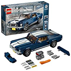 """Build and customize your very own 1960s Ford Mustang GT, featuring dark-blue bodywork with white racing stripes, 5-spoke rims with rugged tires, detailed interior, V8 engine and customization add-ons! Customize this """"American muscle car model"""" with t..."""