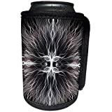 3dRose Perkins Designs Animals - Werewolf scary eyes of a Werewolf with animal fur fun for Halloween holidays - Can Cooler Bottle Wrap (cc_20478_1)