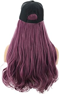 YONSIN Long curls Wig Cap Long Hair Baseball Cap Ball Caps
