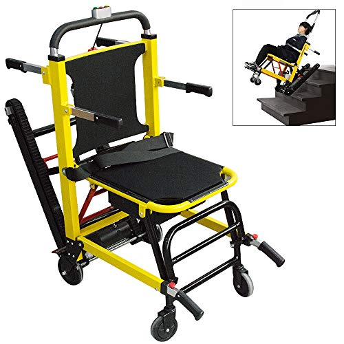 Colilove EMS Evacuation Stair Chair Foldable Stair Climbing Wheelchair Electric Elderly Stair Lifting Chair Motorized Climbing Wheelchair, 356lbs, Upgraded Safety System – US Shipping Mobility Scooters