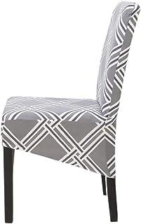 4 fundas grandes para silla de comedor, tamaño XL, extensibles, lavables y elásticas, para silla de respaldo alto