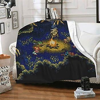 Lulala Home Textile Chr-ONO Tri-Gger Ca-Mping Sc-Ene Family Plush Blanket Breathable Soft Duvet 50 X40