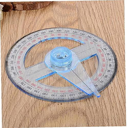 360 Grados De Ángulos Oscilación Visor De Ángulo De 10 Cm De Plástico Circular Regla De Medición Duradero Material De Oficina Escuela Herramienta