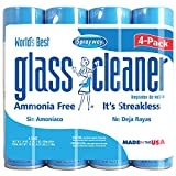 Sprayway Glass Cleaner 19 Ounce ,Pack of 4