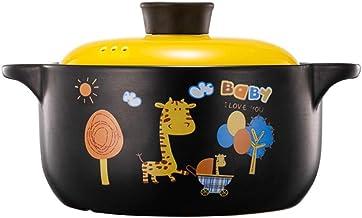Practical Casserole XLTCG High Temperature Casserole Pot For Hob And Oven Porridge Pot With Lid, Cute Milk Pan Cookware, E...