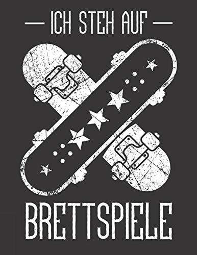 Notizbuch: für Skater und Skateboarder ♦ über 100 Seiten Dot Grid Punkteraster für alle Notizen, Tricks oder Skizzen ♦ A4+ Jounal Format ♦ Motiv: Brettspiele