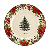 Spode Christmas Tree 8-Inch 2020 Annual Collector's Plate in White