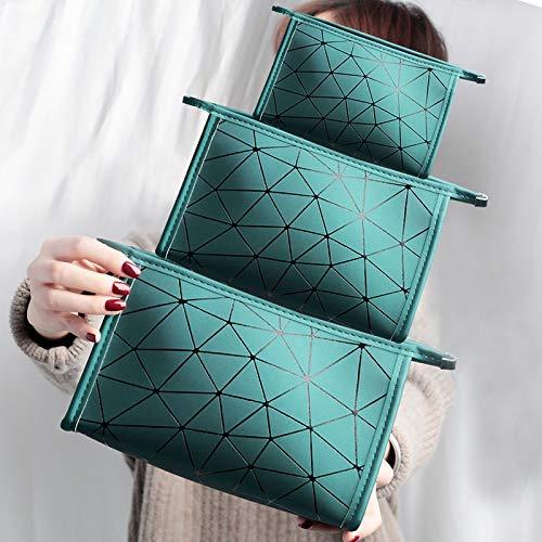 Aufbewahrungstasche Lingge Cosmetic Bag Geometry Handtasche Fashion Pailletten Große Aufbewahrungstasche Kosmetiktasche in der Hand (Color : Black, Size : S)