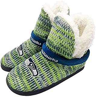 FC Seattle Seahawks Women's 2017 Peak Boot Slippers (Small)
