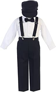 Boys Suspender Pant Set with Hat