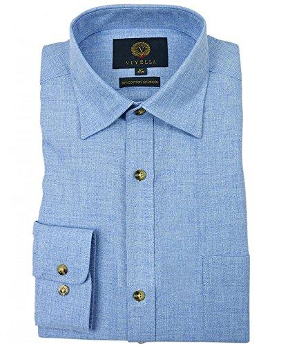 Photo of Viyella Plain 80/20 Cotton Wool Blend Shirt (18)