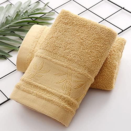 Juego de toallas de algodón egipcio 75* 35 cm 2 piezas de suave juego de toallas de bambú liso, toalla de cara de fibra de bambú, toalla de deporte, juego de toallas de baño para el hogar
