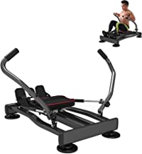 YUSDP Hydraulic Rowing Machine Rower with LCD Monitor, 4 Level Adjustment Resistance and Full Arm Extensions, 330 lb Weight Capacity for Home and Business Use