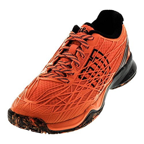 Wilson Men`s KAOS Tennis Shoes Flame and Black-(097512276023)