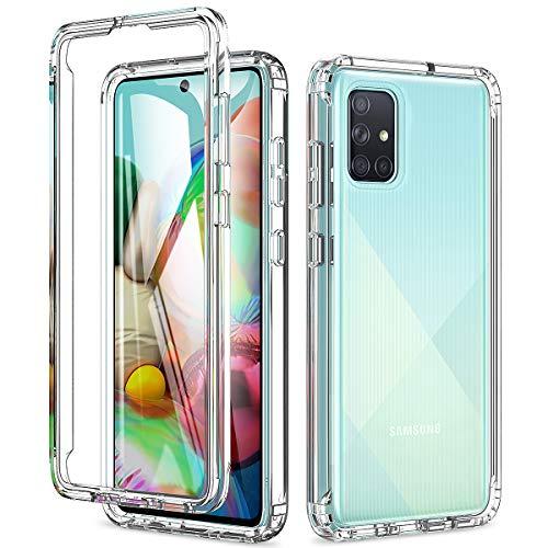 Yokata für Samsung Galaxy A71 Hülle Transparent Crystal Clear Weiche Silikon TPU + Hart PC Rahmen Bumper Handyhülle Stoßfest Anti-Gelb Kratzfest Schutzhülle Case für Samsung A71
