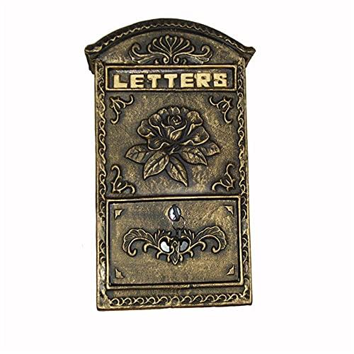 Hand Drums Sicherheitsmailbox Hanging Mailbox Gusseisen Aluminium Apartment Briefkasten Dropbox Moderne Retro Wandmailboxen für außerhalb dekorativer Postfach Mail Manager (Color : Bronze)