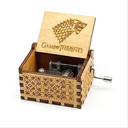 Regalo Carillon Carillon Game of Thrones Manovella in Legno Intagliato Antico Regalo di Natale Regalo di Compleanno Game of Thrones A