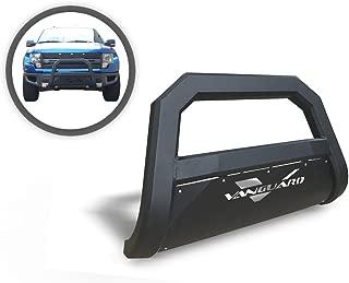 VANGUARD VGUBG-1763-1051BK Multi-fit Bumper Guard Black Optimus Series Bull Bar with Skid Plate